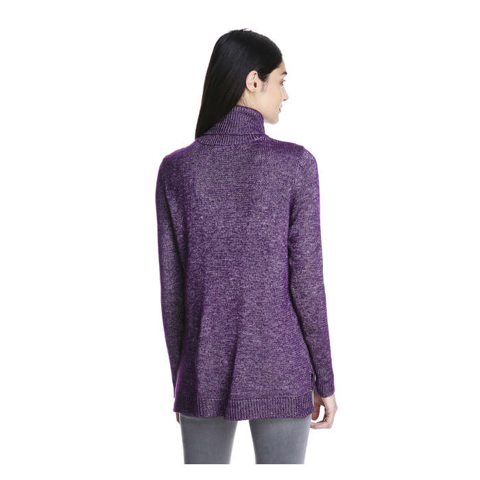 Horizontal Ribbed Turtleneck Sweater in Purple from Joe Fresh