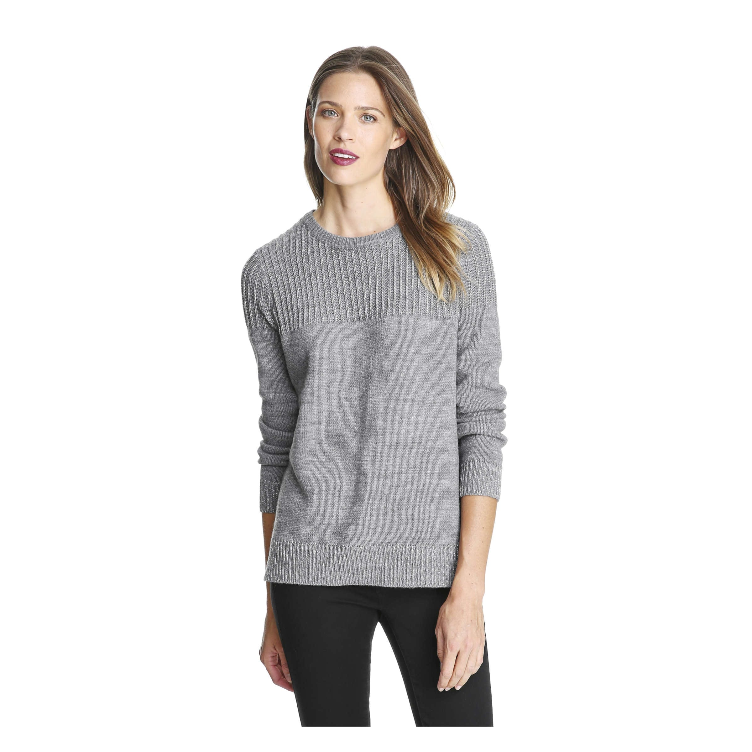 2774756cdd Joe Fresh Sparkle Rib Crew Neck Sweater