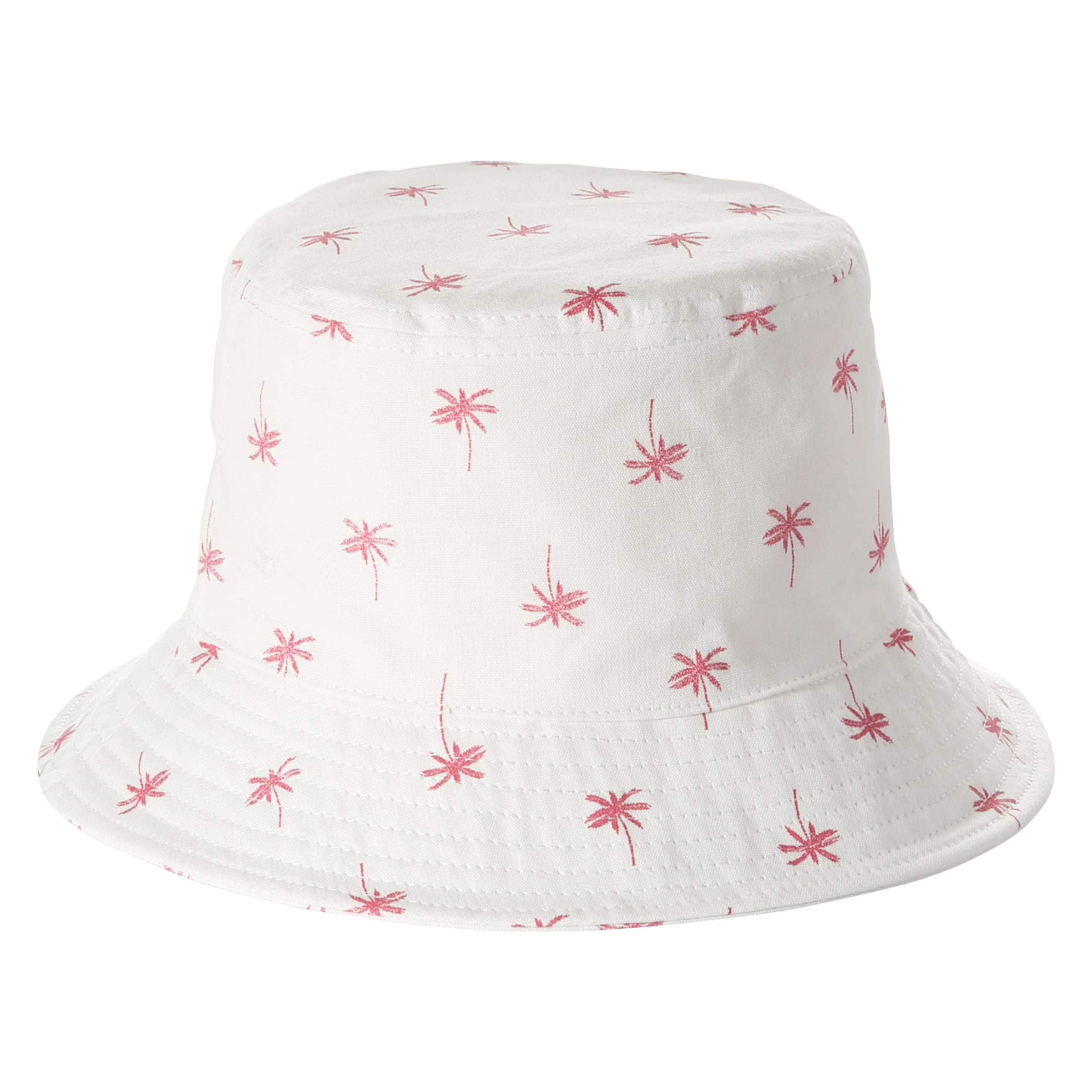 Palm Tree Print Bucket Hat in Off White from Joe Fresh ee849a90d0cc