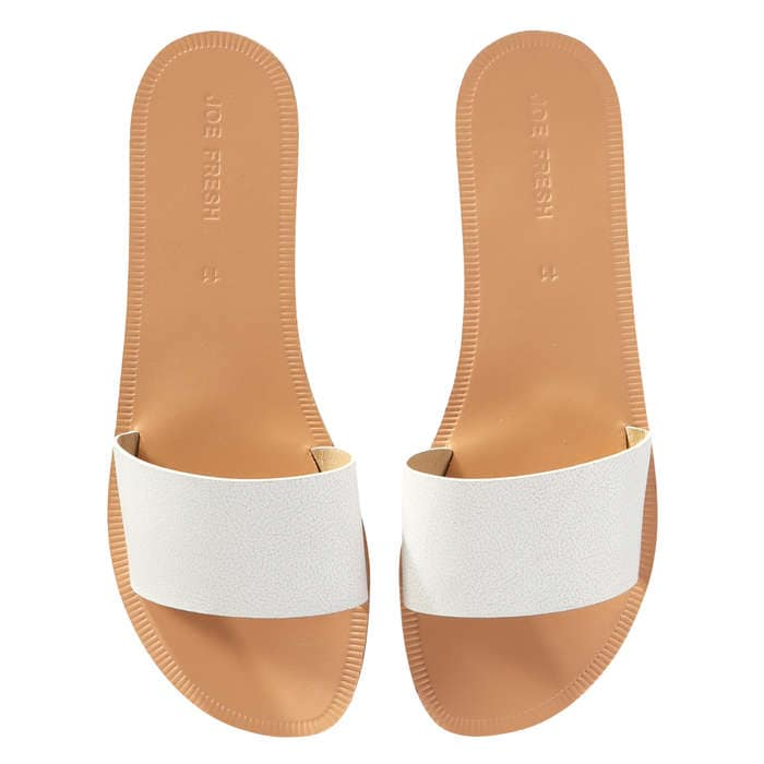 Single Strap Sandals in White from Joe Fresh
