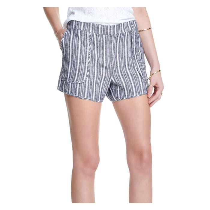 Stripe Linen Blend Short