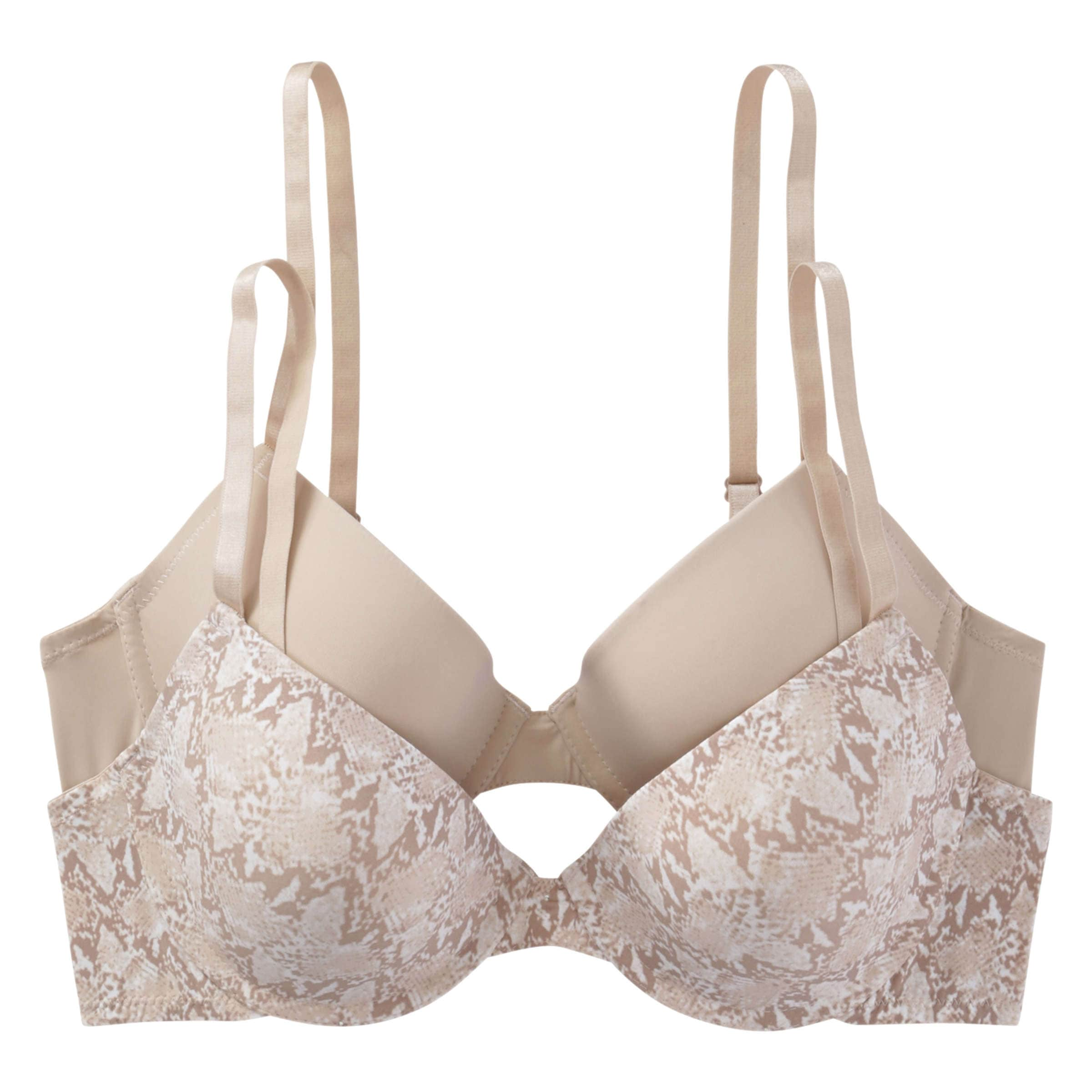 b878a58c20 2 Pack Underwire T-Shirt Bras in Print 1 from Joe Fresh