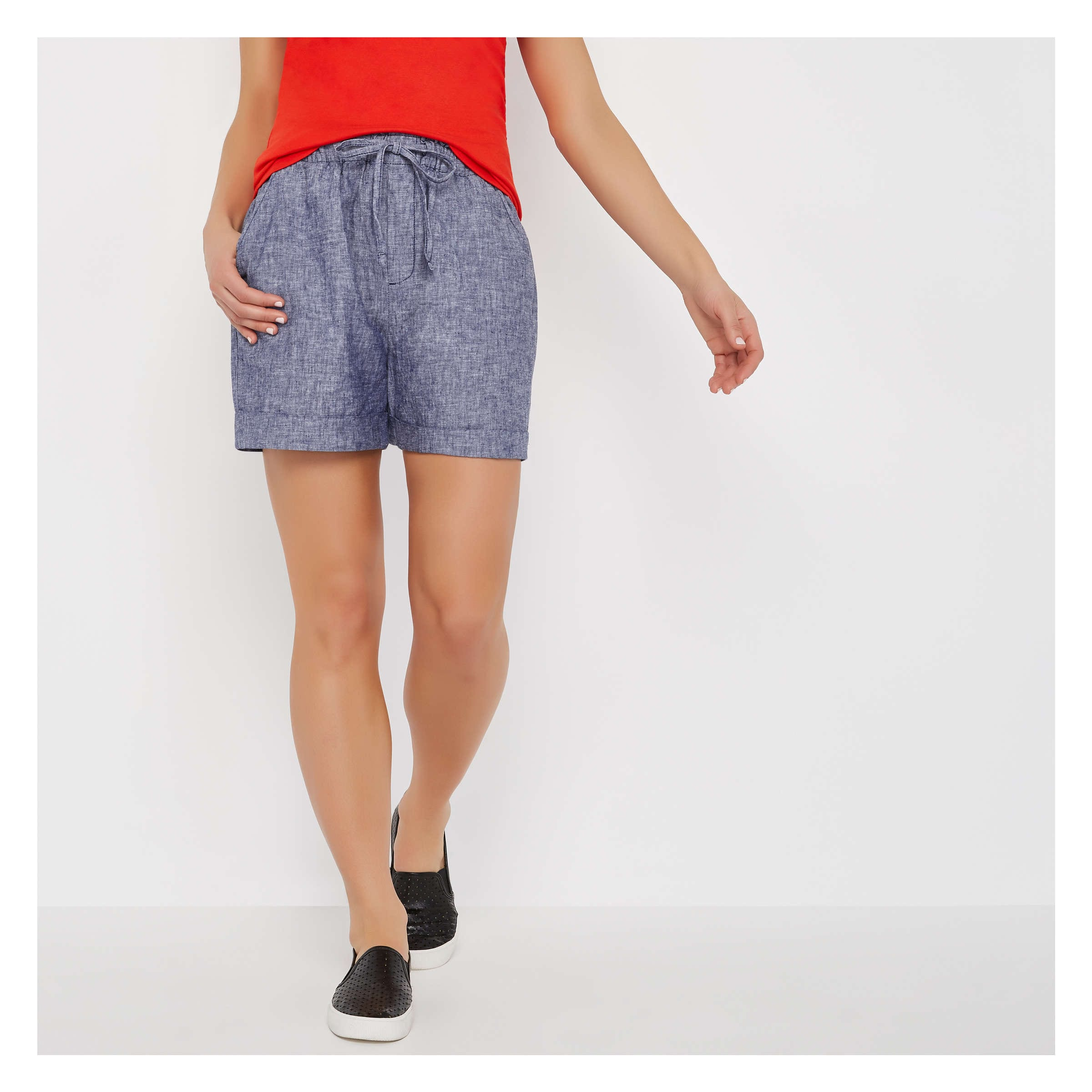 2067405f86 Linen Blend Short in Cobalt from Joe Fresh