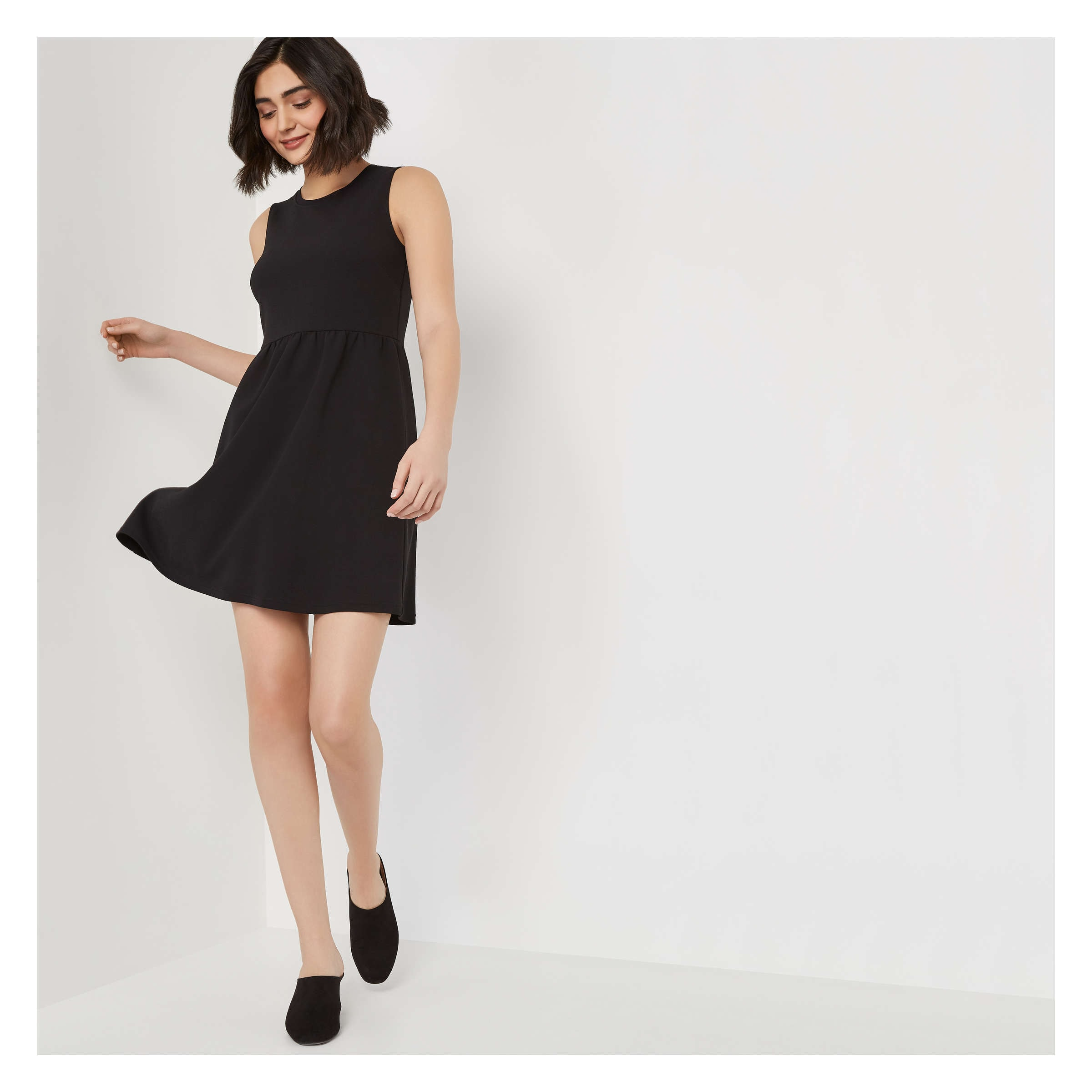 e232f3c4733f Textured Knit Dress in JF Black from Joe Fresh