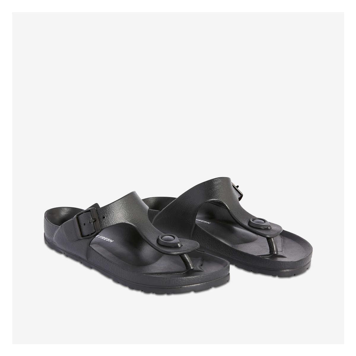 93228d03c68 Footbed Thong Sandal in Black from Joe Fresh
