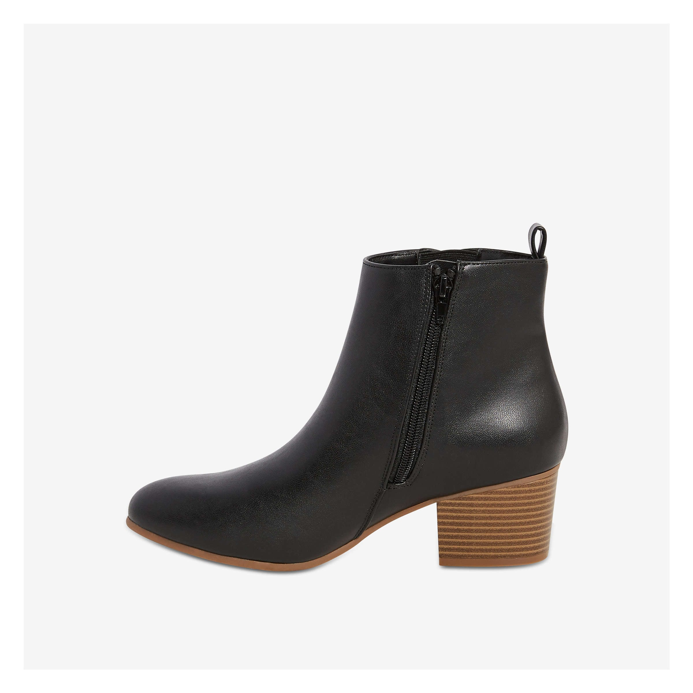 e4f3978a1d57 Stacked Heel Ankle Boot in Black from Joe Fresh