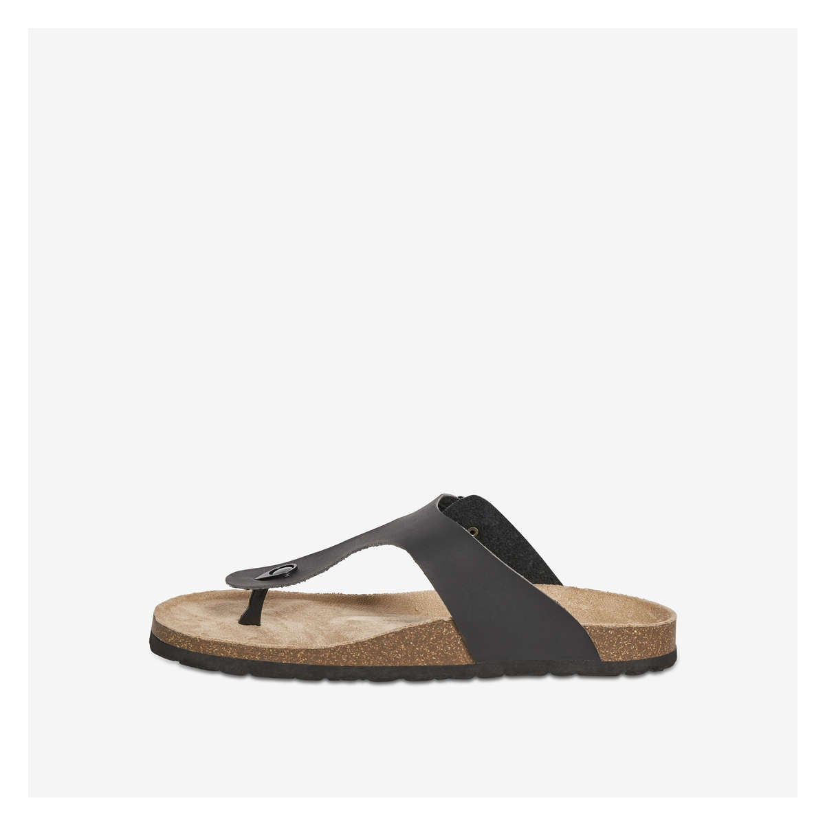 c655e930d680 Footbed Thong Sandals in Black from Joe Fresh