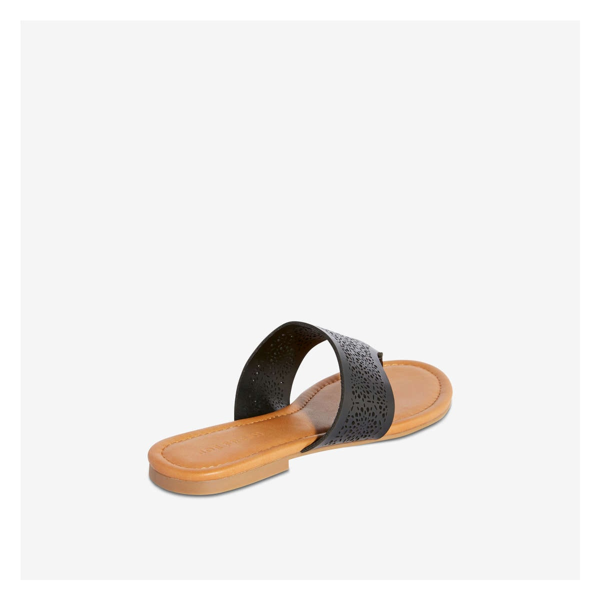 dc2c9169881 Laser Cut-Out Thong Sandal in Black from Joe Fresh