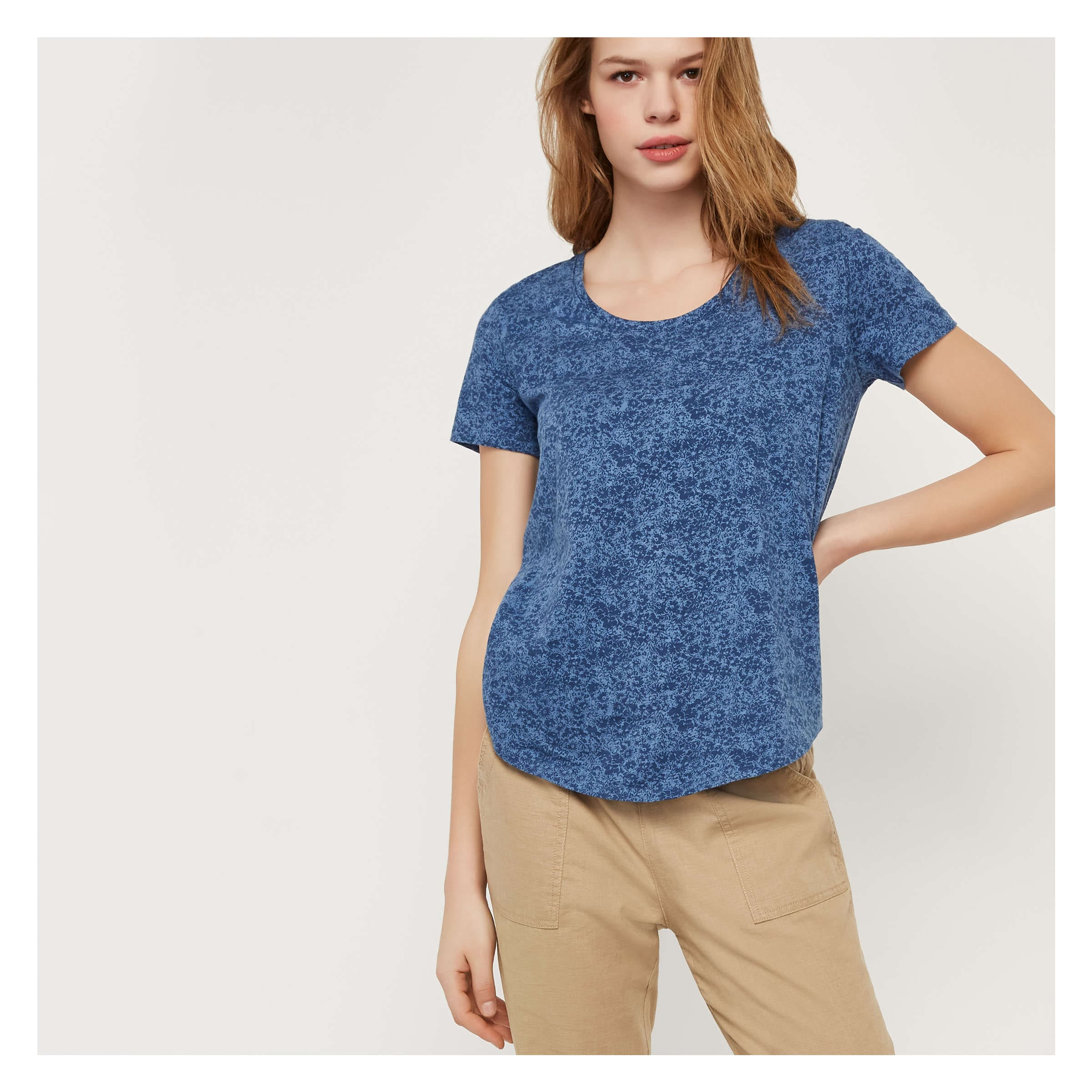 61d7c67a142 Print Slub Knit Tee in Denim Blue from Joe Fresh