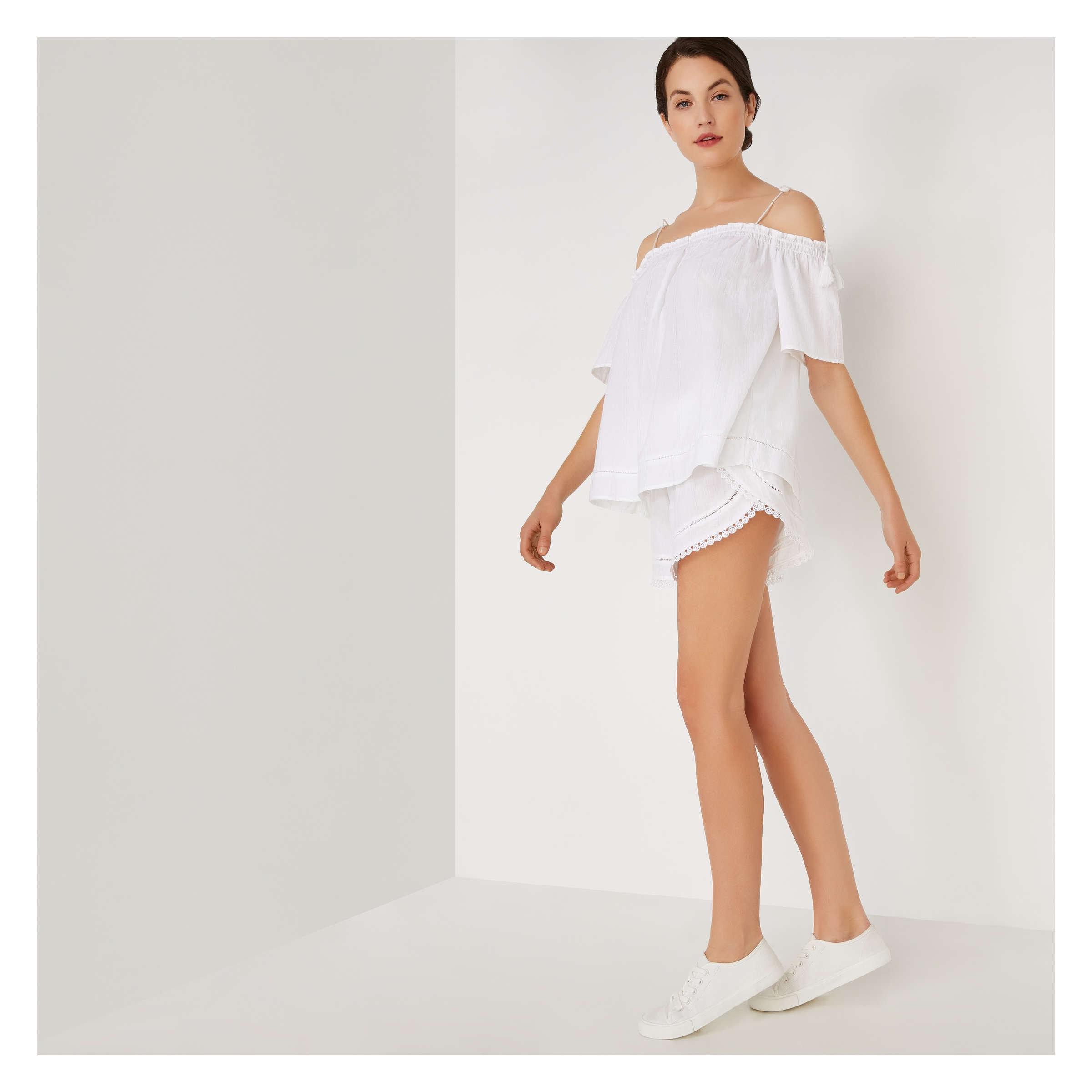 3f8ce443ee Overlap Beach Shorts in White from Joe Fresh