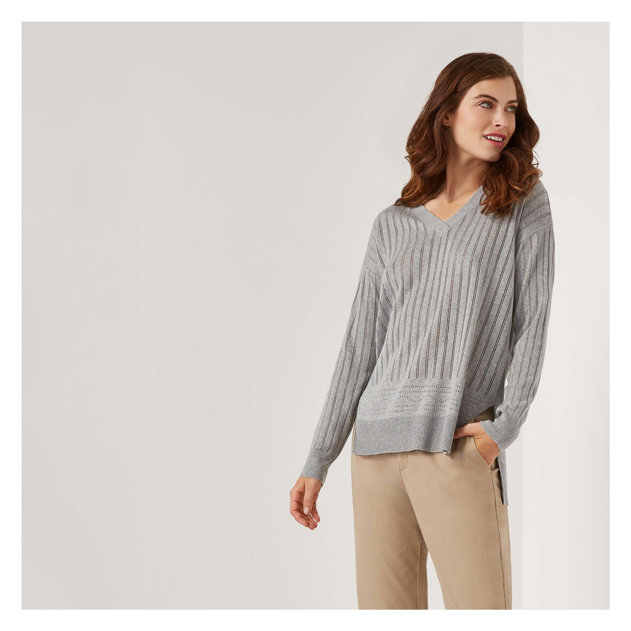 5c21ee7ee1f Joe Fresh Pointelle V-Neck Sweater