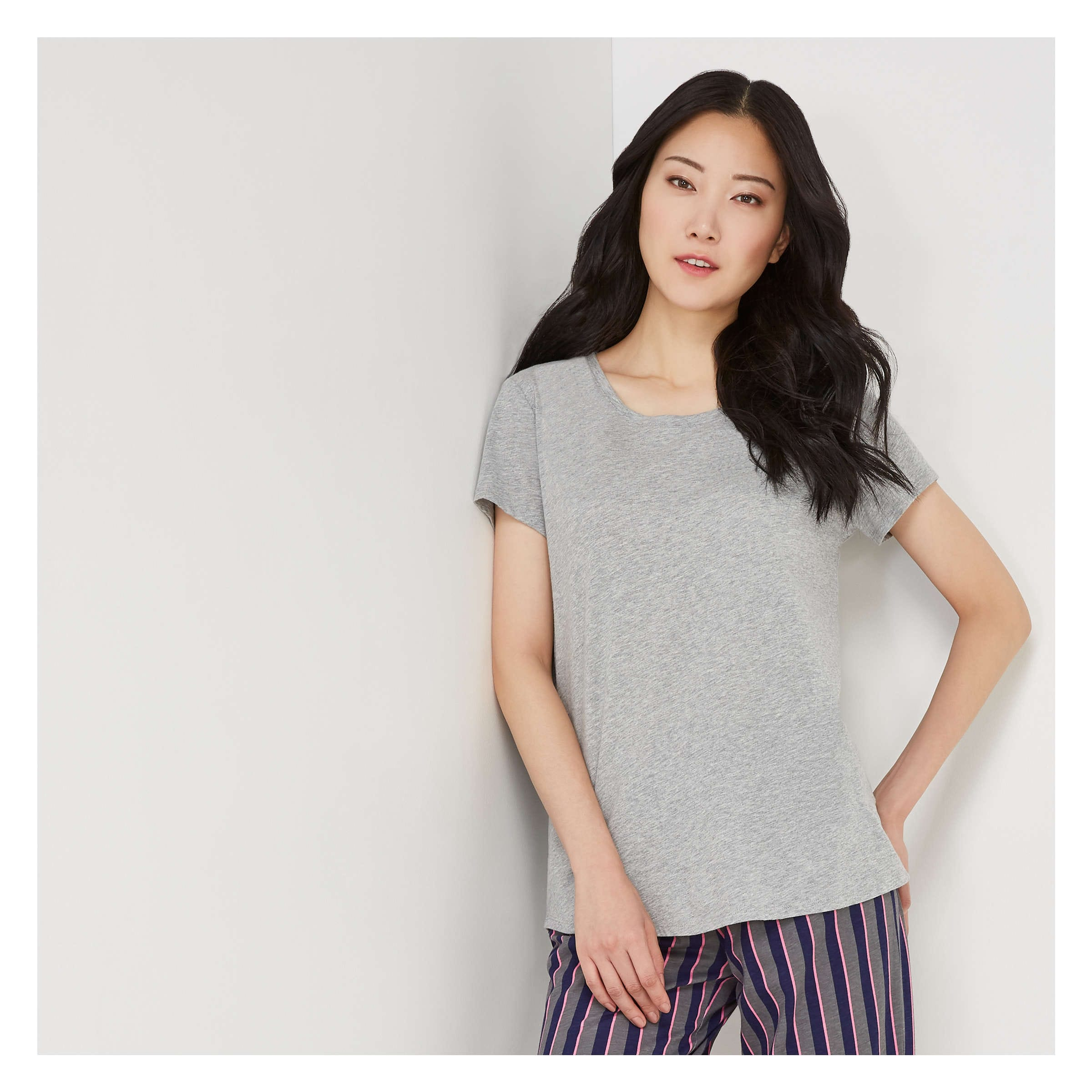 8559b2cb3c Sleep Tee with Pocket in Grey Mix from Joe Fresh
