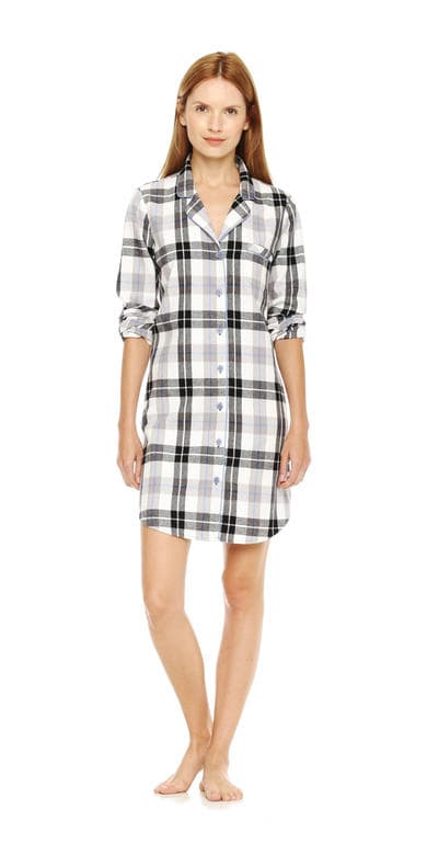 flannel nightshirt in print 2 from joe fresh
