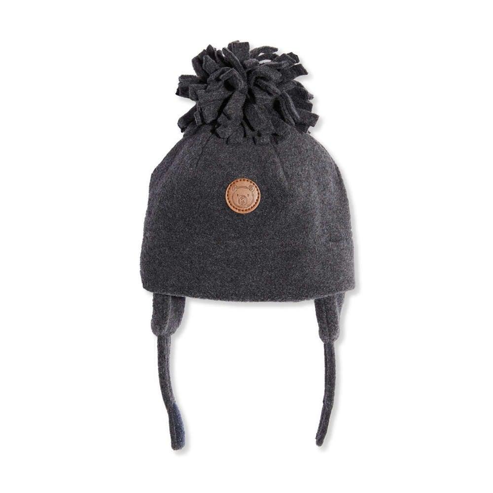 Baby Boys  Fleece Pompom Hat in Dark Grey Mix from Joe Fresh c2c9d6a6976