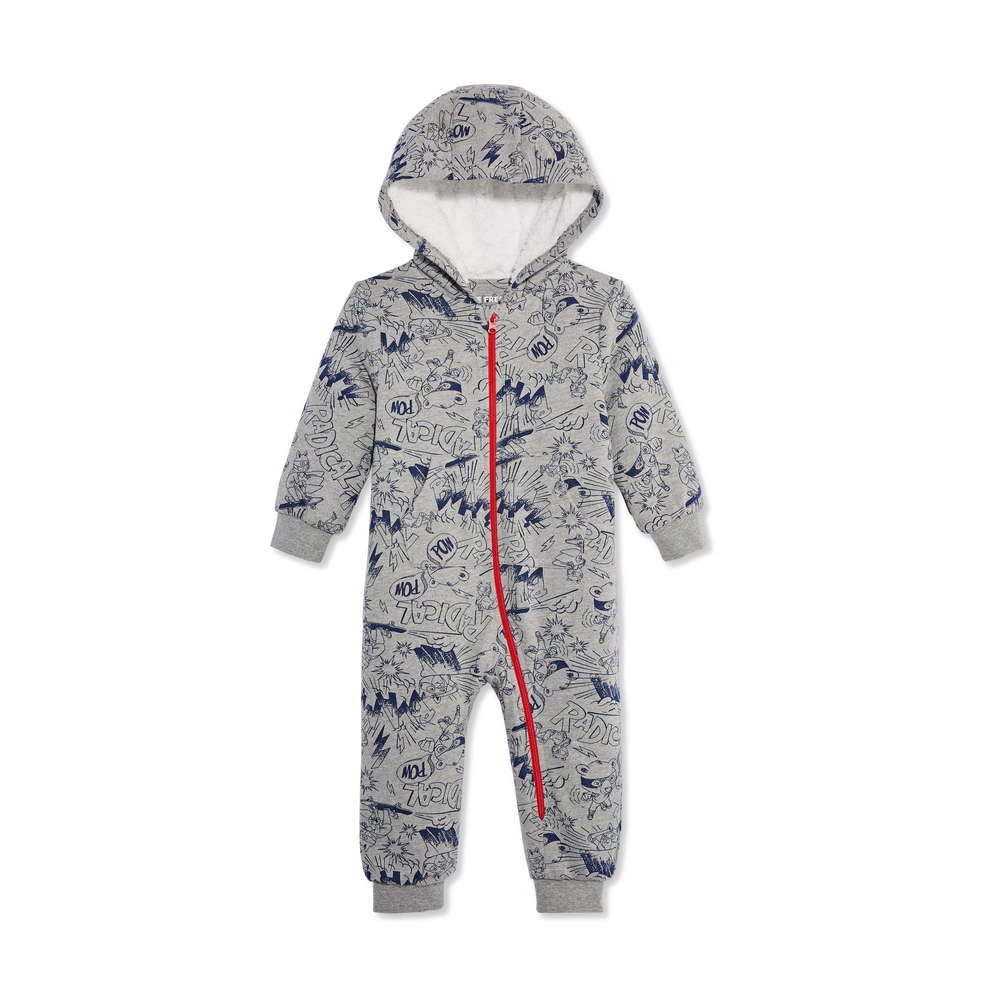 ef8709ace Baby Boys  Sherpa-Lined Romper in Grey from Joe Fresh
