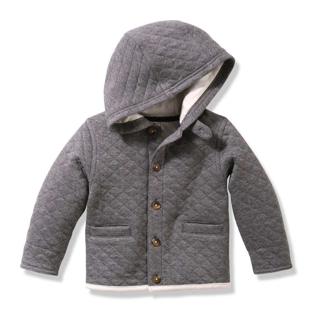 8e1373e6e168 Baby Boys  Diamond Quilted Jacket in Grey Mix from Joe Fresh