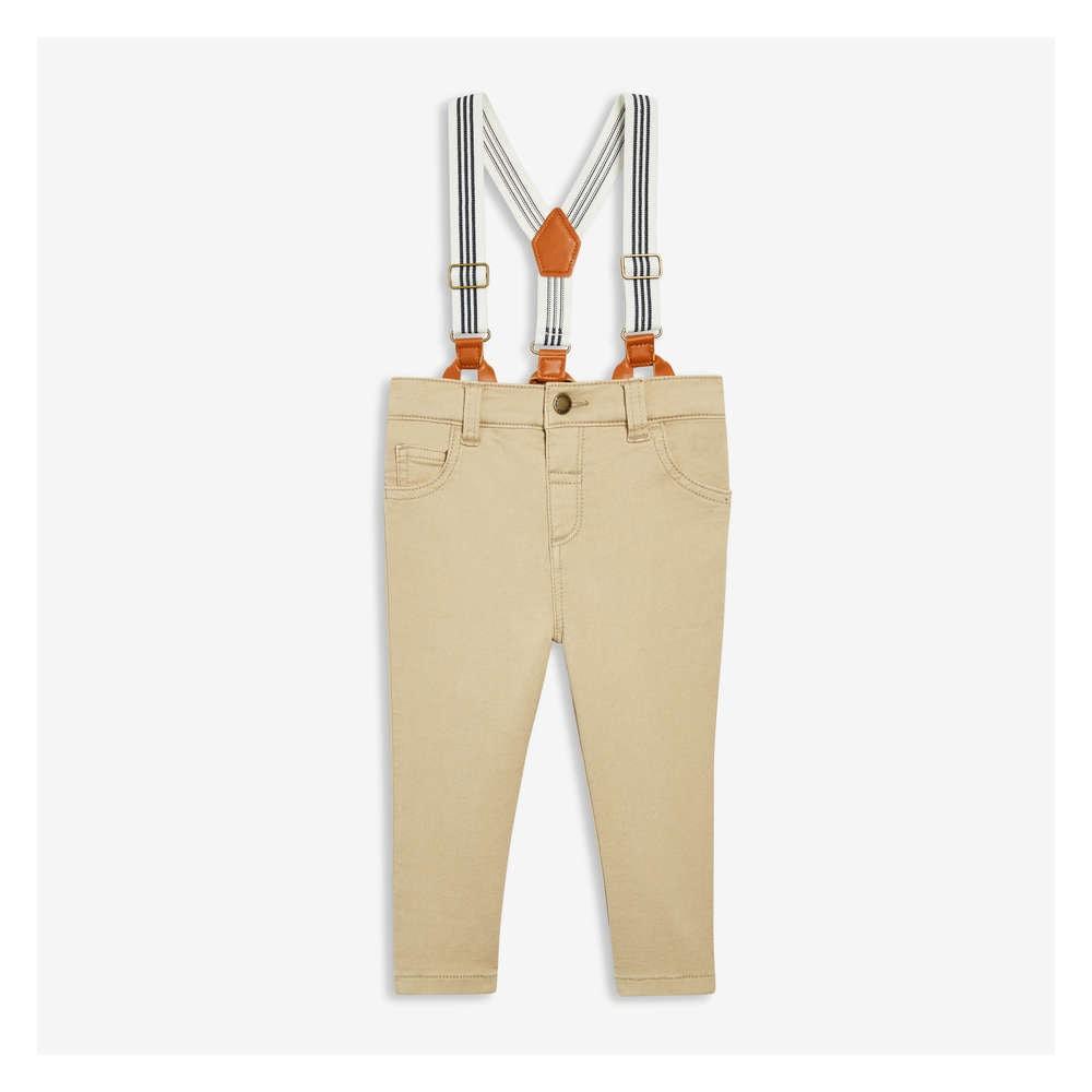 81879dc398659 Joe Fresh Baby Boys' Twill Pant with Suspenders