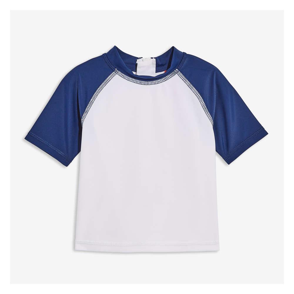 92f78c0bb9 Baby Boys' Short Sleeve Rashguard in White from Joe Fresh