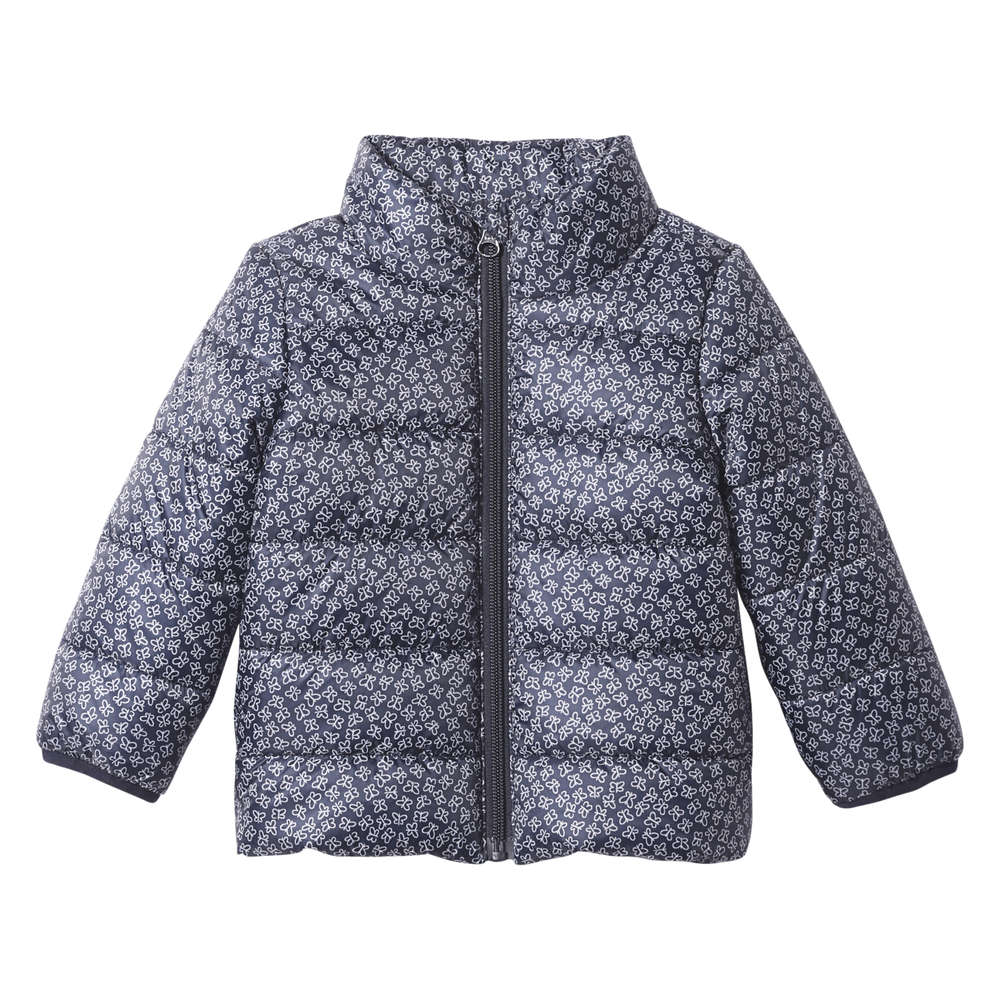 e99ccd084c2 Baby Girls  Butterfly Print Puffer Jacket in JF Midnight Blue from ...