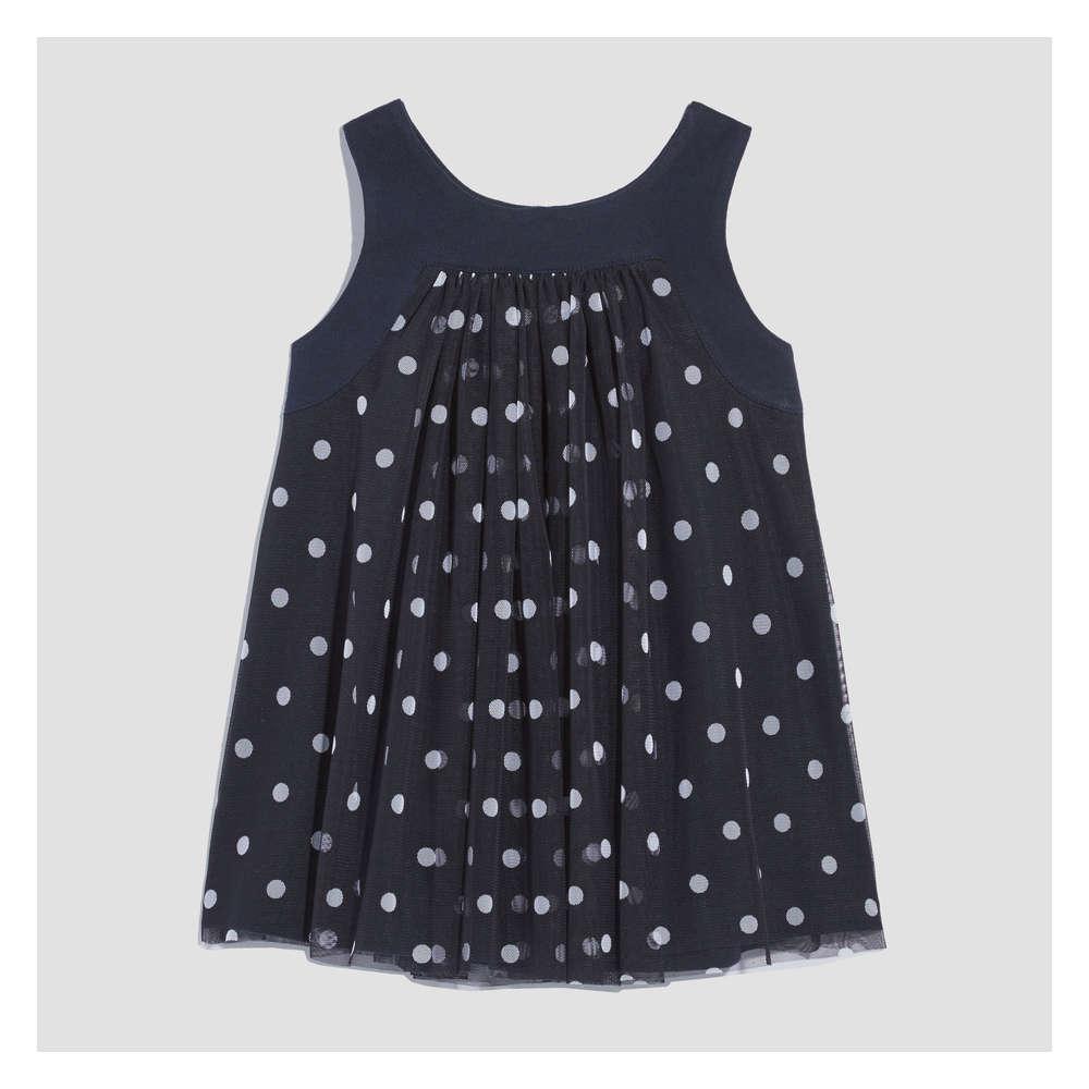 2972efbc9 Baby Girls  Sleeveless Mesh Dress in JF Midnight Blue from Joe Fresh