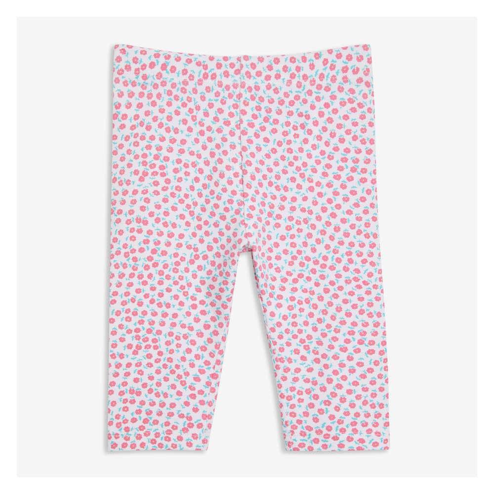 Baby Girls Print Capri Legging In White 2 From Joe Fresh
