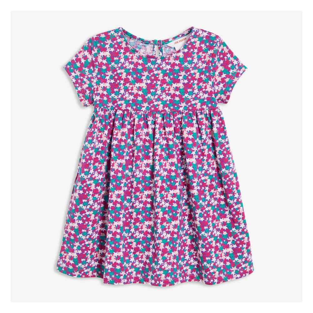 11905ac2f Baby Girls' Print Dress in Teal from Joe Fresh