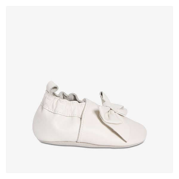 50a267da37405 Baby Girls  Bow Leather Footlet