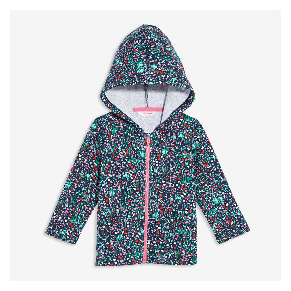 820685ec892a4 Baby Girls  Print Hoodie in JF Midnight Blue from Joe Fresh