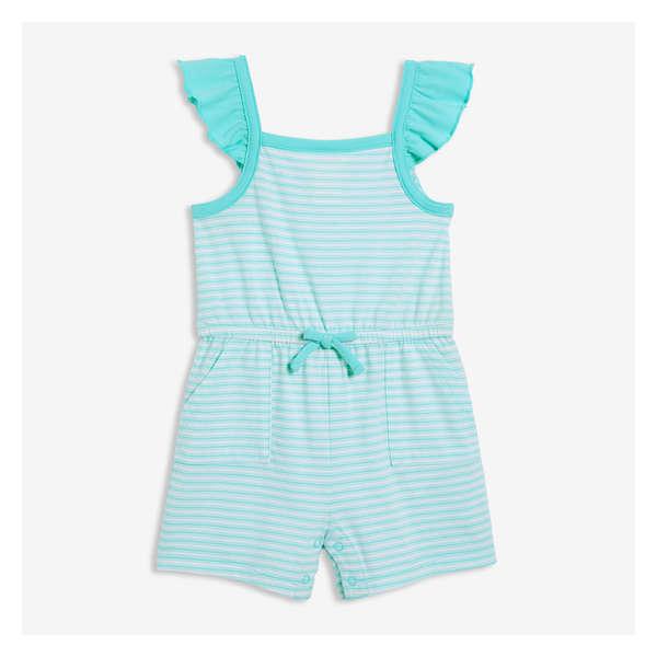 fdca1b882d1 Baby Girls  Stripe Ruffle Romper