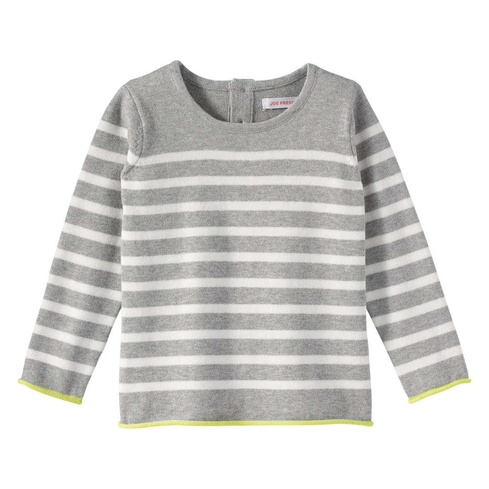 Baby Girls\' Melange Knit Sweater in Grey Mix from Joe Fresh