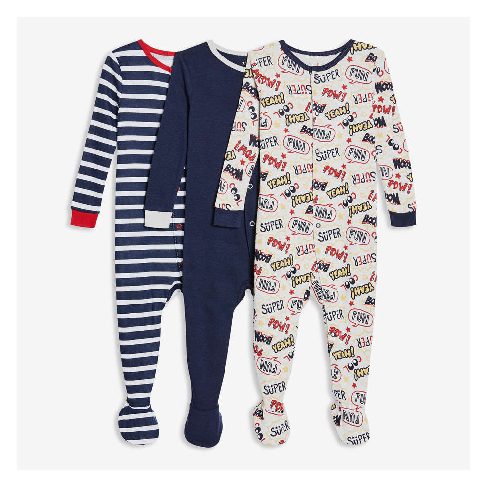 Essentials Baby Boys 3-Pack Sleeper Gown