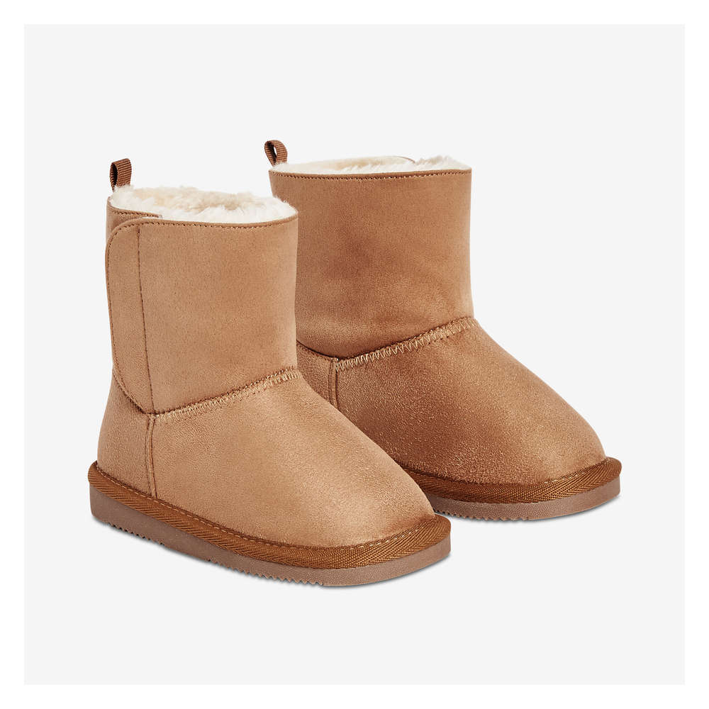 Toddler Girls' Cozy Boots in Tan from