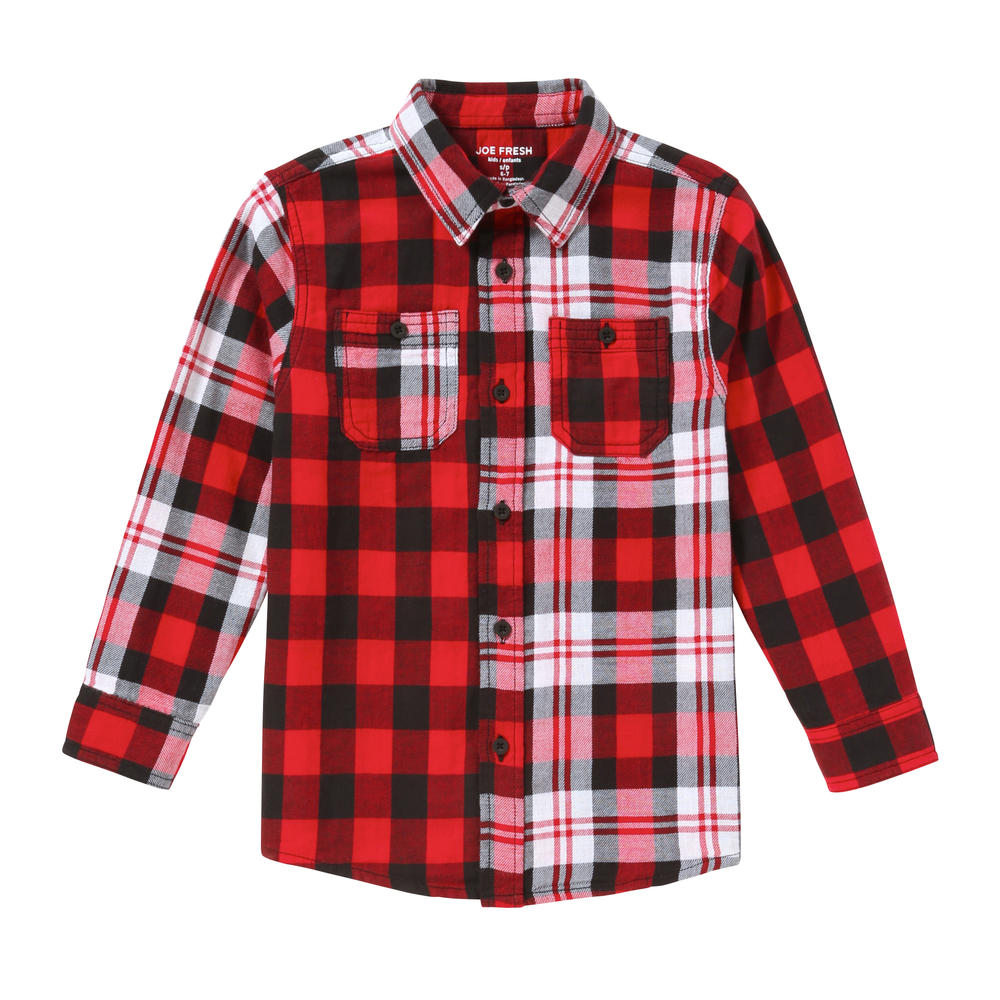 2c60cf7af Kid Boys' Mixed Plaid Shirt in Red from Joe Fresh
