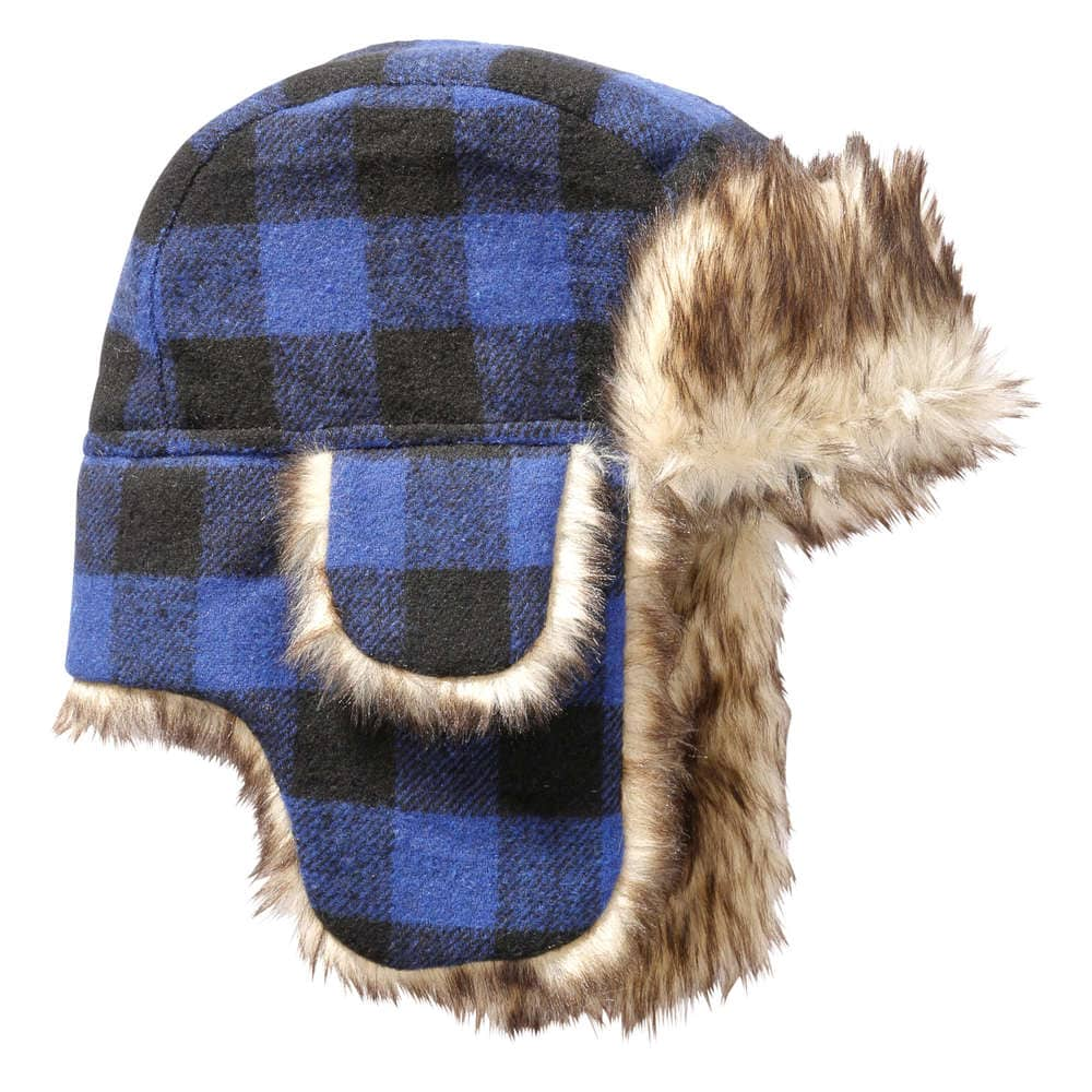 a4524d1e053 Kid Boys  Check Trapper Hat in JF Midnight Blue from Joe Fresh