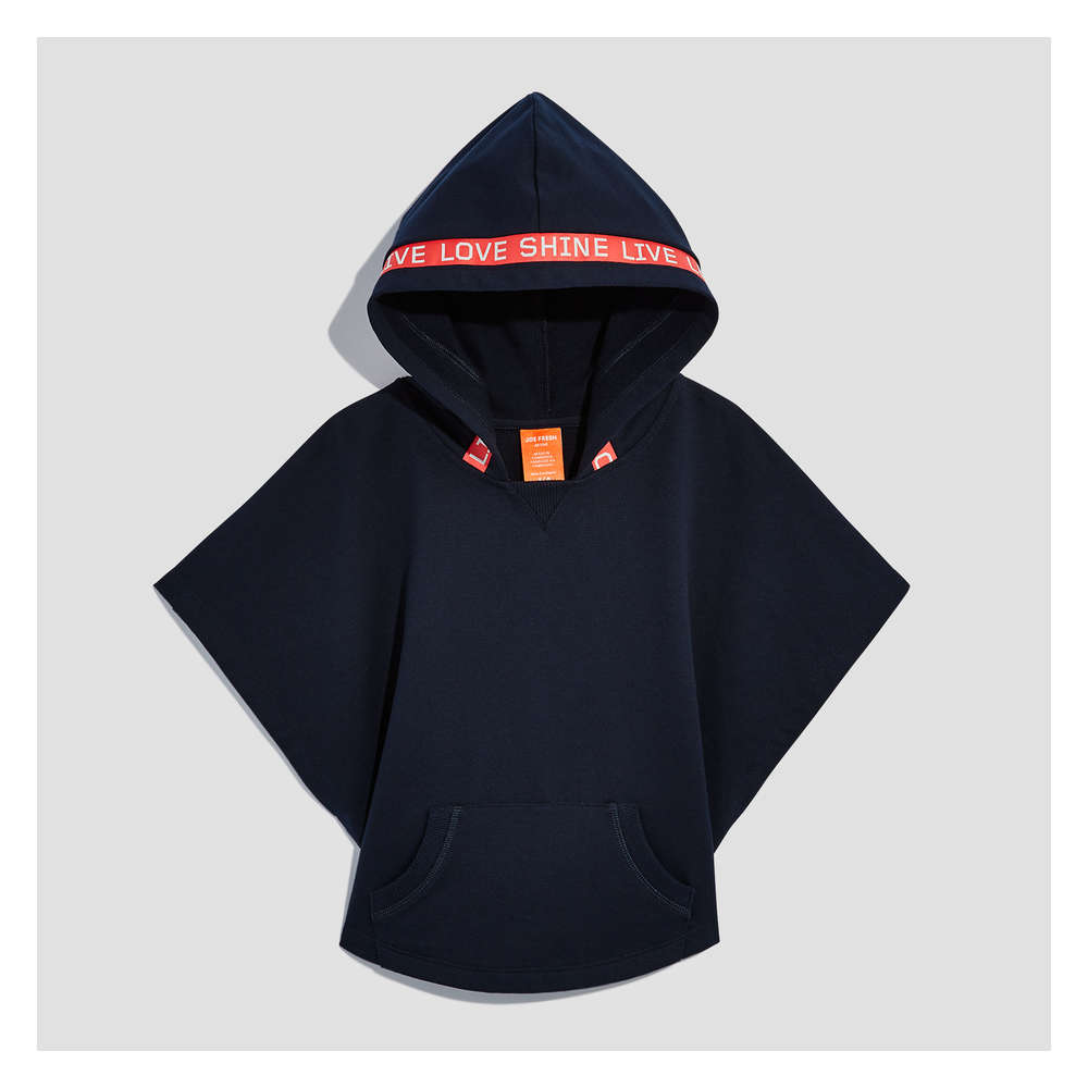 528860d61f545 Kid Girls  Cape Hoodie in JF Midnight Blue from Joe Fresh