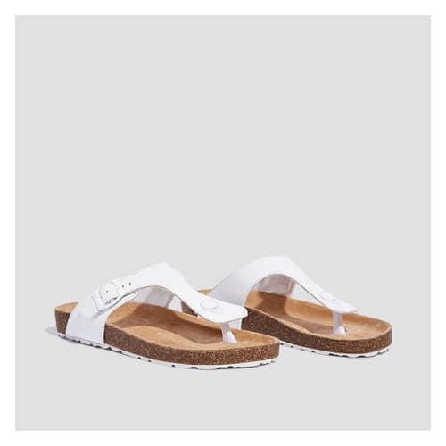 2c597b15aeb7 Kid Girls  Cork Footbed Thong Sandal in White from Joe Fresh