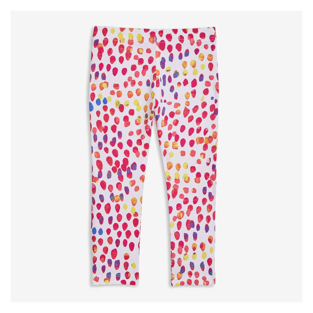 cfab8de3b8942 Kid Girls' Print Capri Leggings in White from Joe Fresh