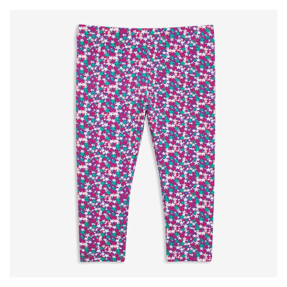 c88d1c28e641b Kid Girls' Print Capri Leggings in Teal from Joe Fresh