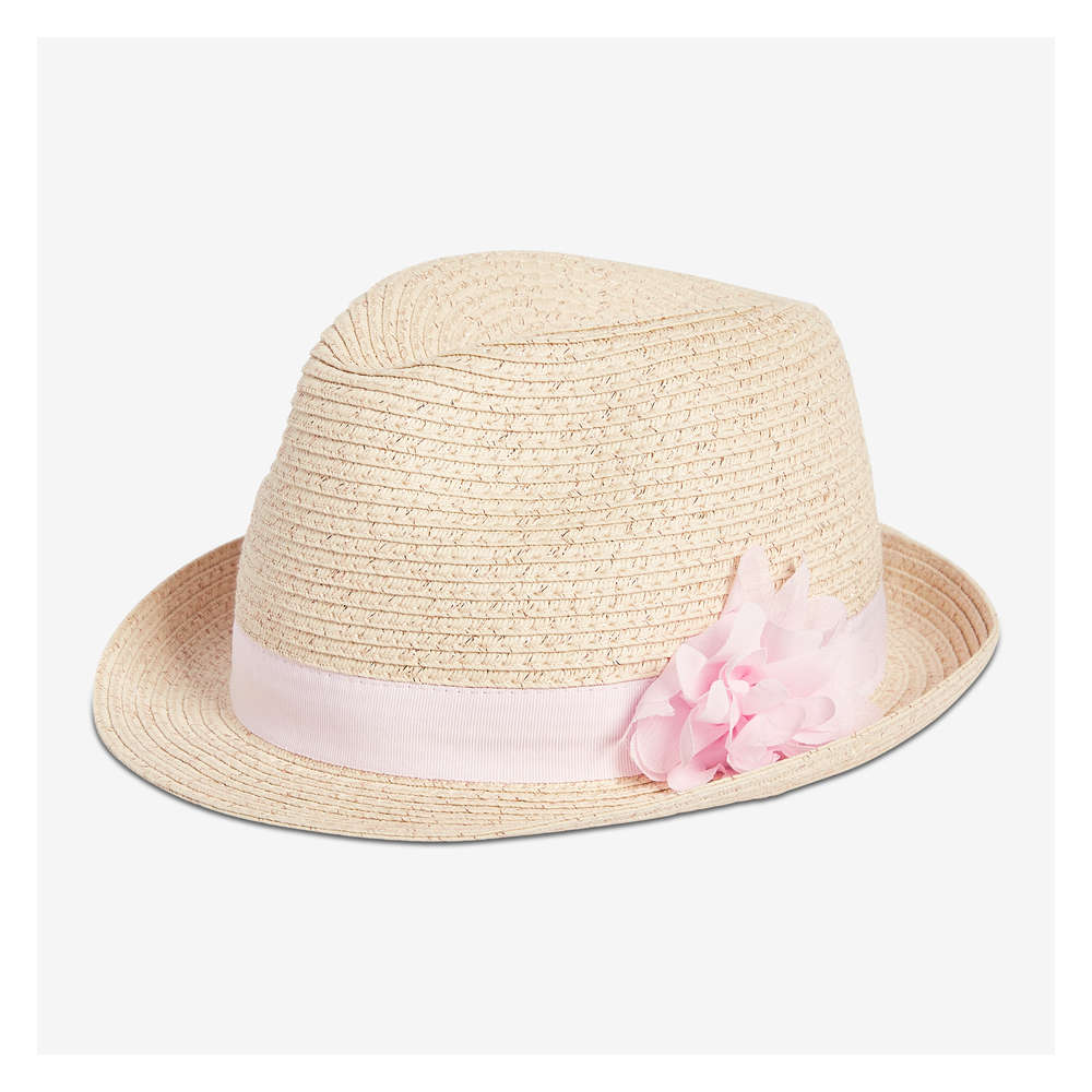 8502fa92 Kid Girls' Straw Fedora in Natural from Joe Fresh