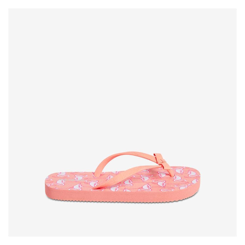 83f40b4bceb Kid Girls  Flip Flops in Pink Flamingo from Joe Fresh