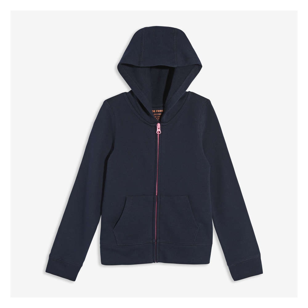 093c27f792e23 Kid Girls  Zip-Up Hoodie in JF Midnight Blue from Joe Fresh