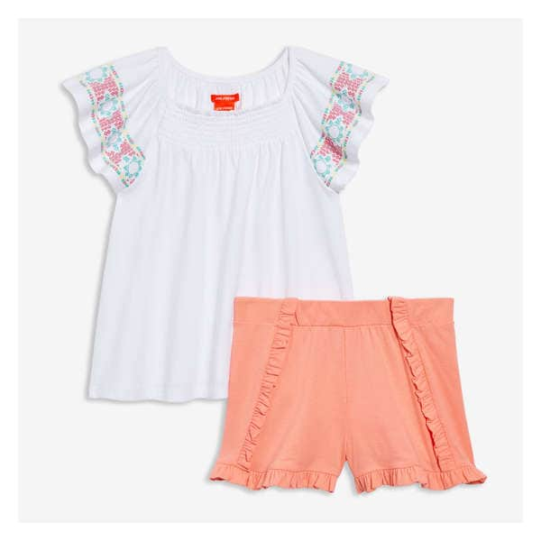 49cf33839 Kid Girls  Flutter Sleeve Top and Short Set