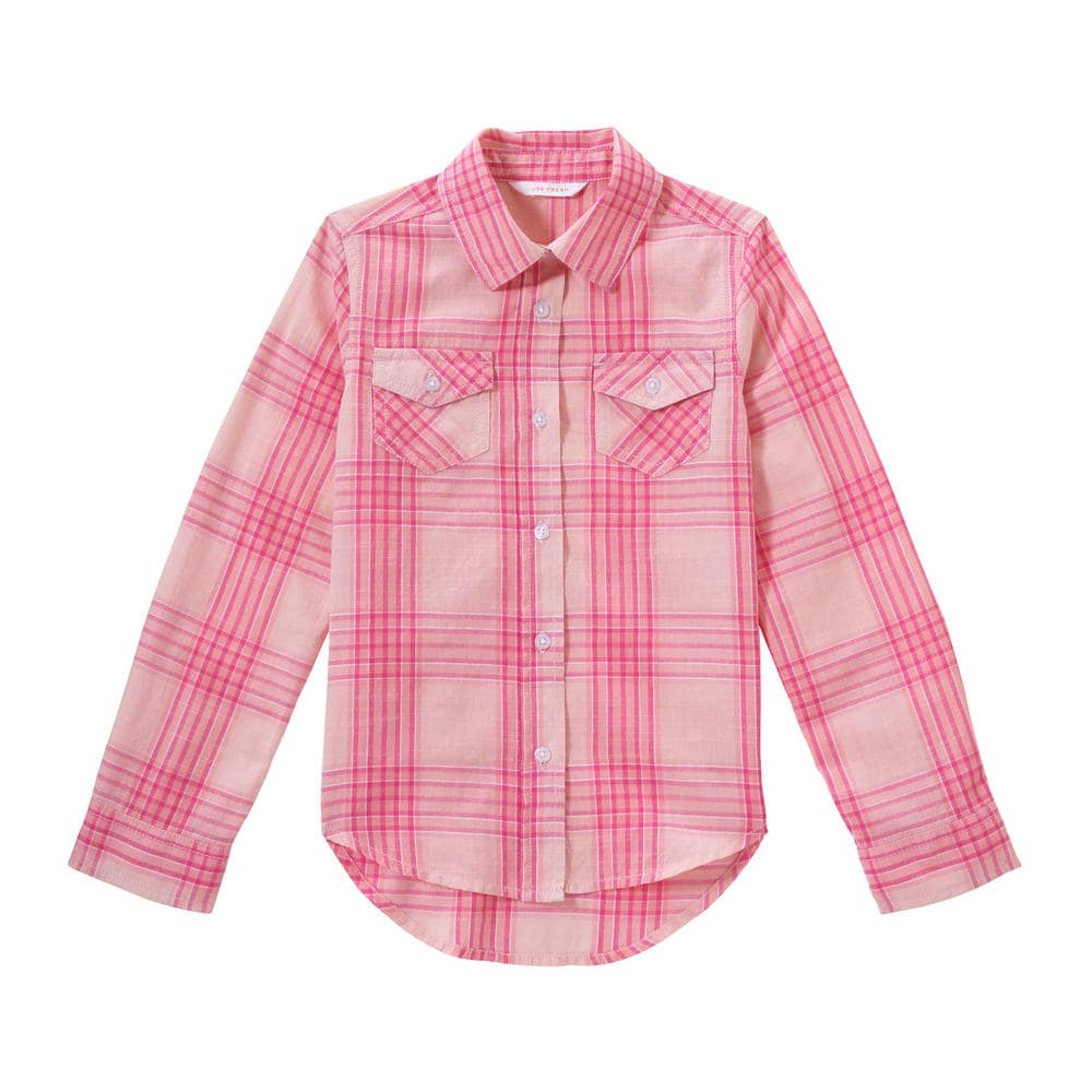 7d34a7c2e Kid Girls' Plaid Button Down Shirt in Light Pink from Joe Fresh