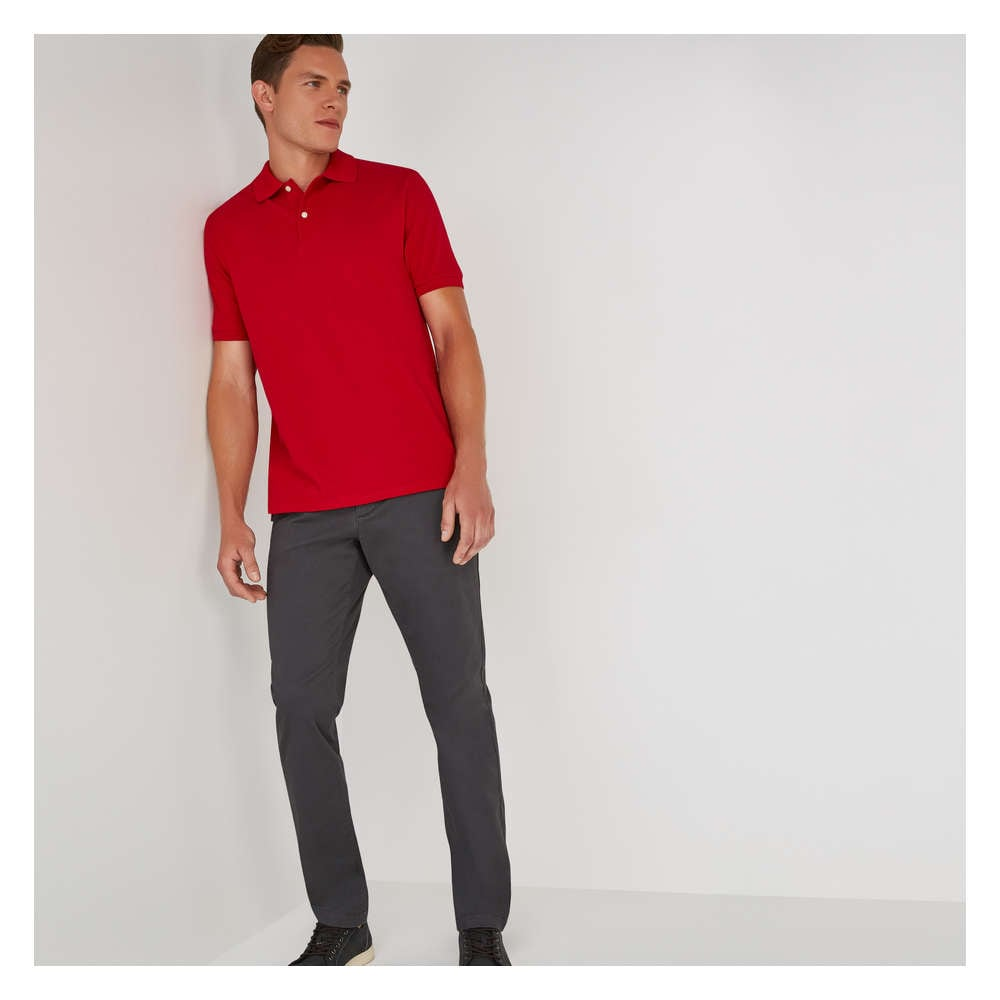 Mens Classic Polo In Cardinal Red From Joe Fresh