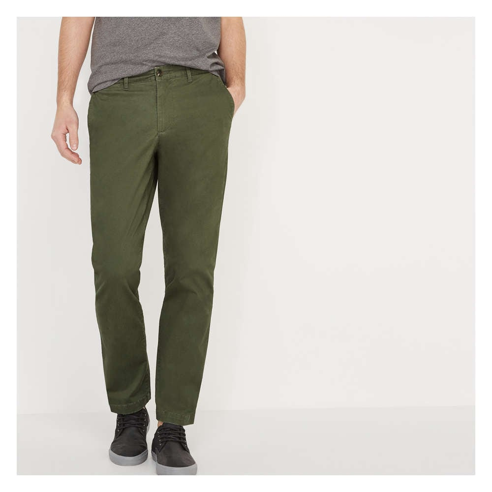 c169adf819 Men's Straight Fit Flex Chino in Army Green from Joe Fresh