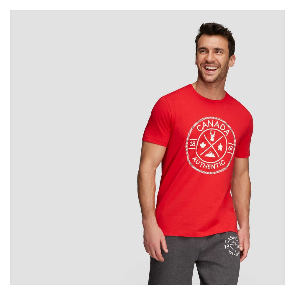 a338bcbe45f61a Men s Canada Short Sleeve Tee in Red from Joe Fresh