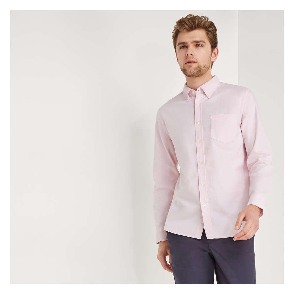e9d987dcf Men's Button-Down Oxford Shirt in Pastel Pink from Joe Fresh
