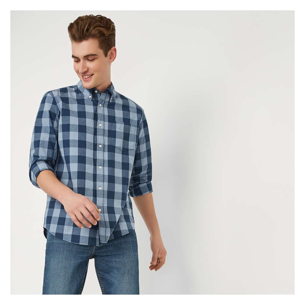 888e5de6e1546f Men s Long Sleeve Button-Down Shirt in Pastel Blue from Joe Fresh