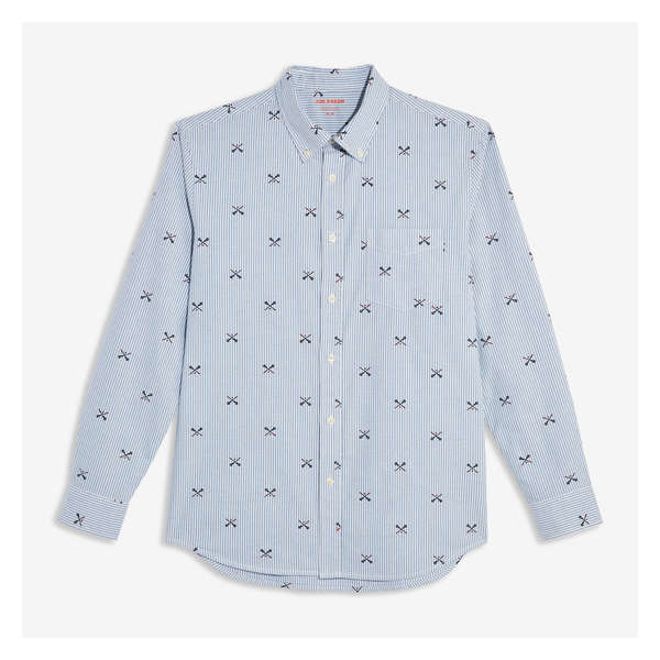 7654ca2a CLEARANCE 31% OFF. Men's Button-Down Lacrosse Print Shirt