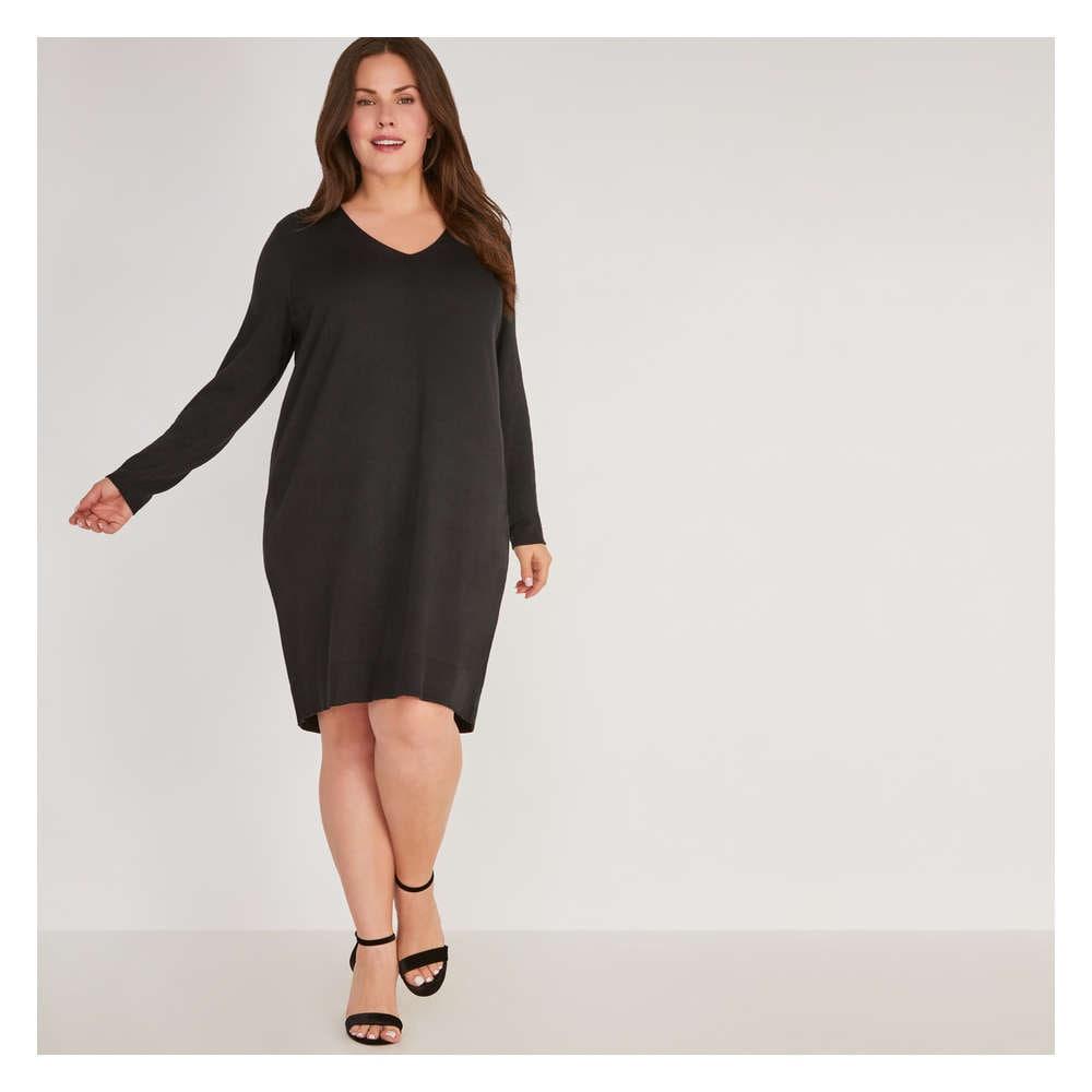 Clearance 50 Off Women V Neck Sweater Dress
